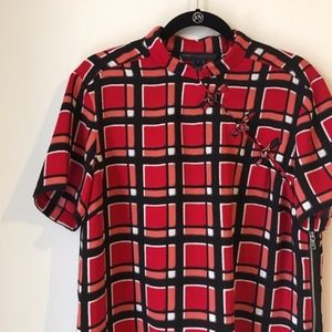 Marc by Marc Jacobs Red Plaid Kimono Top AA